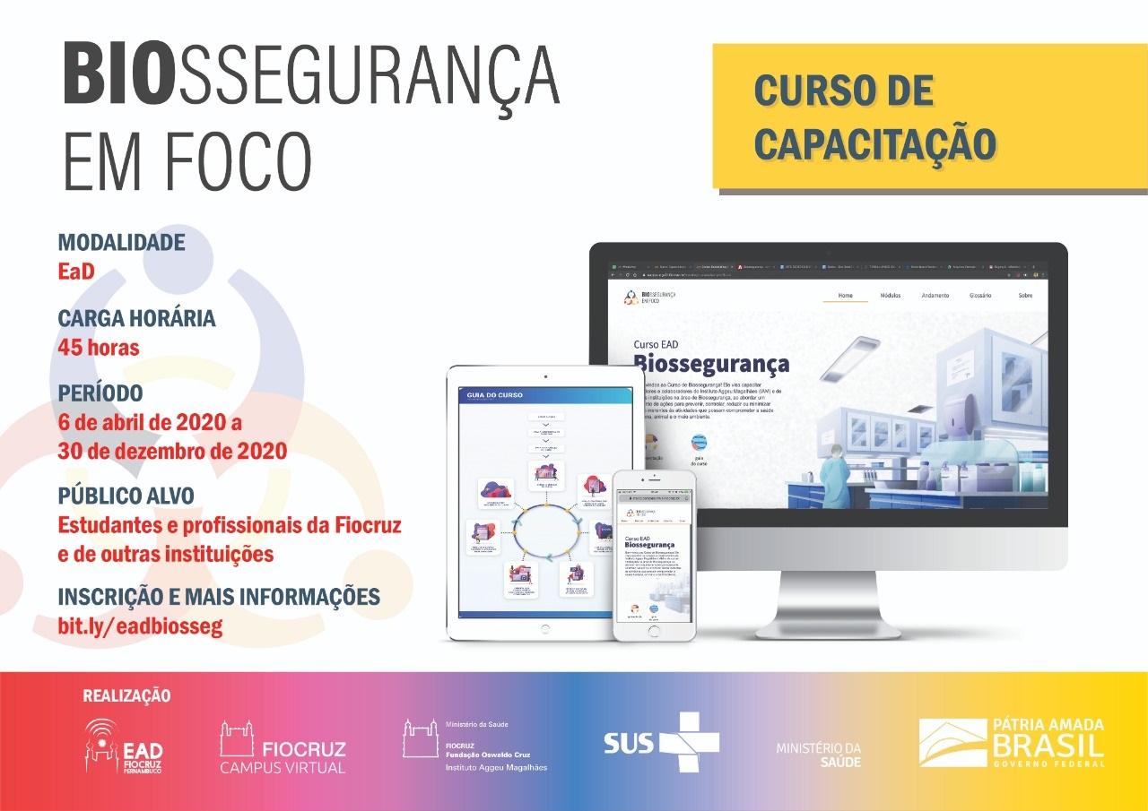 Biossegurança em foco: Fiocruz Pernambuco oferece curso de capacitação na modalidade EAD