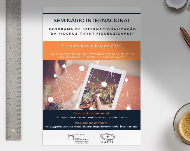 PrInt Fiocruz-Capes: comunidade acadêmica debate internacionalização do ensino nos dias 3/12 e 4/12