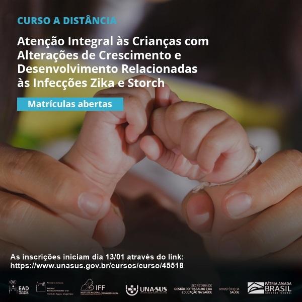 Curso qualifica profissionais de saúde para assistência a crianças com síndromes congênitas causadas por Zika e Storch