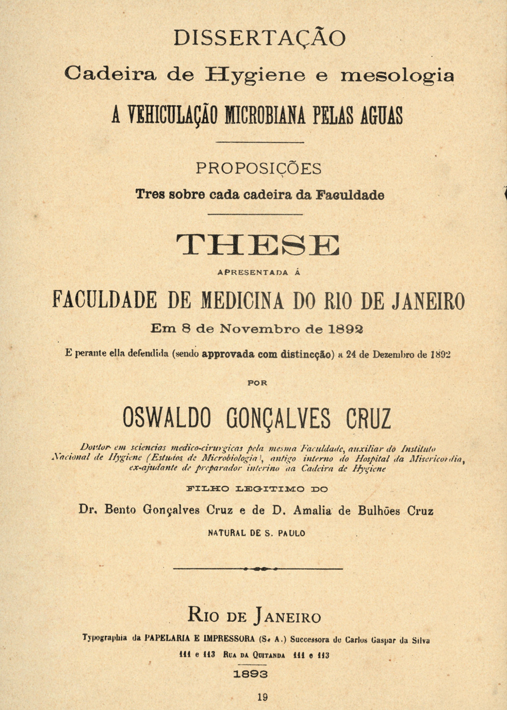 Biblioteca virtual reúne o maior acervo online sobre Oswaldo Cruz