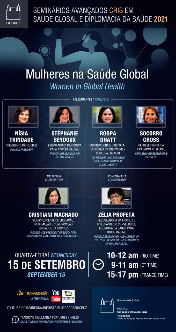 Seminário debaterá a temática das mulheres na saúde global