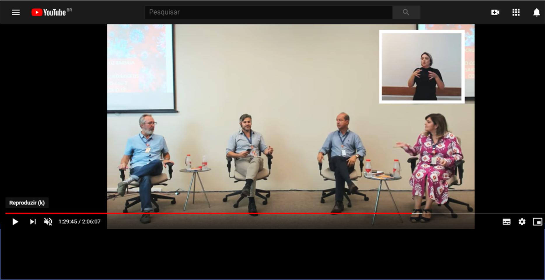 Coronavírus nas redes: Aula Magna da Fiocruz Brasília atrai cerca de 6 mil pessoas ao YouTube
