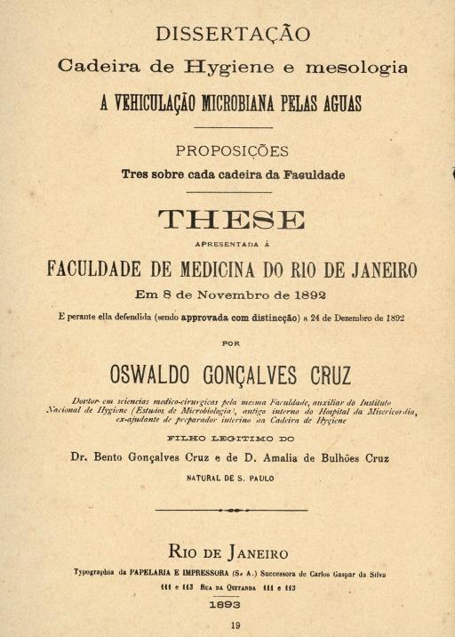 Confira a lista de inscrições homologadas no Prêmio Oswaldo Cruz de Teses 2018