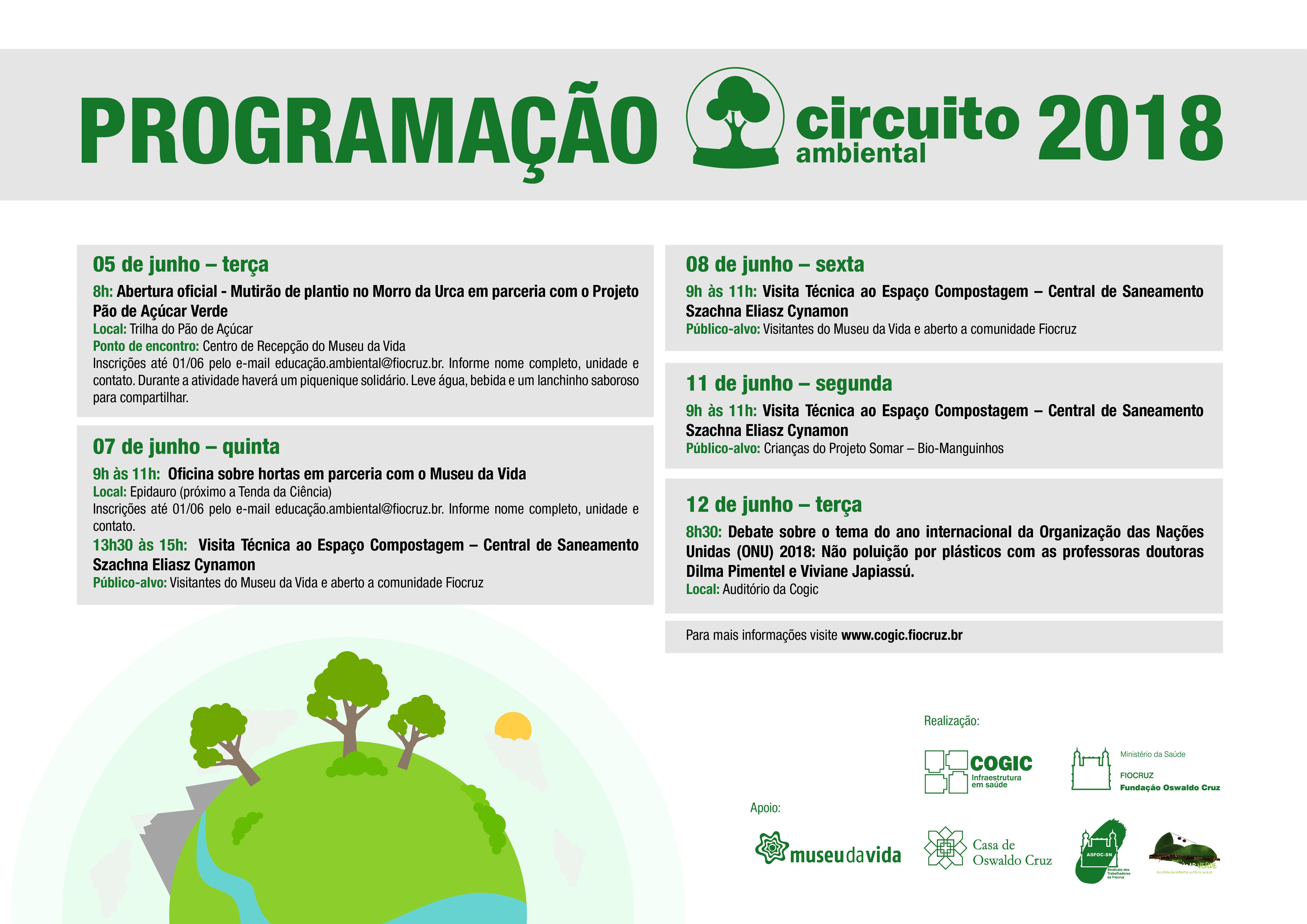 Circuito Aberto : Circuito ambiental 2018: celebrando o dia mundial do meio ambiente