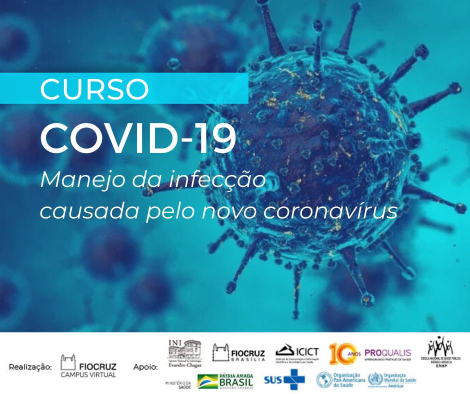 Fiocruz lança seu primeiro curso sobre Covid-19, online e gratuito, para profissionais de saúde*