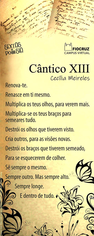 Sextas de Poesia fala sobre renovação e renascimento com Cecília Meireles