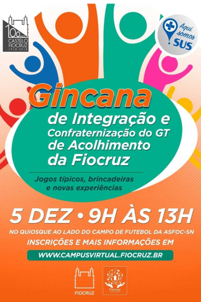 GT de Acolhimento da Fiocruz promove gincana de integração e confraternização para estudantes*