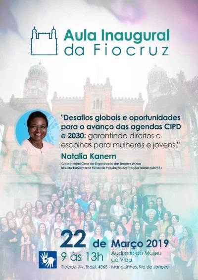 Aula Inaugural da Fiocruz abordará desafios globais para os direitos das mulheres e jovens