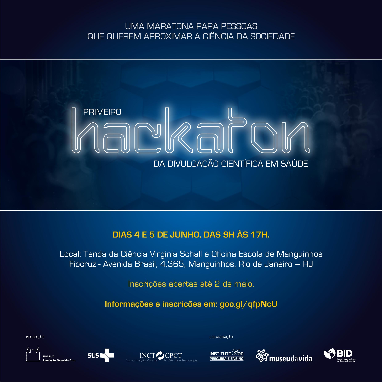 Inscrições abertas para o primeiro Hackaton da Divulgação Científica em Saúde da Fiocruz