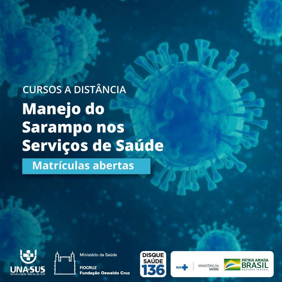 UNA-SUS oferece curso online sobre manejo do sarampo nos serviços de saúde