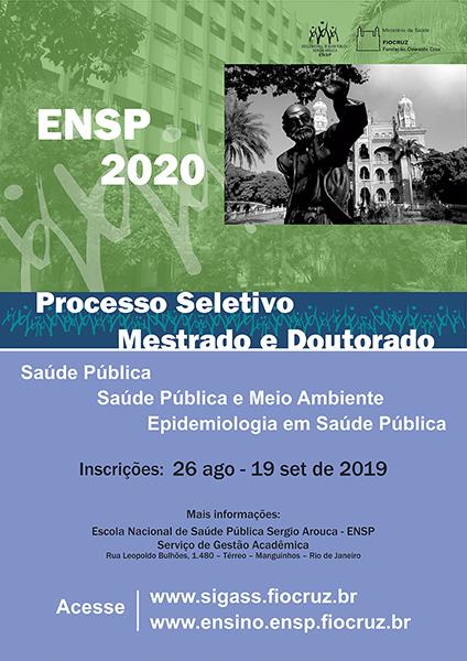 Ensp abre processo seletivo para mestrado e doutorado