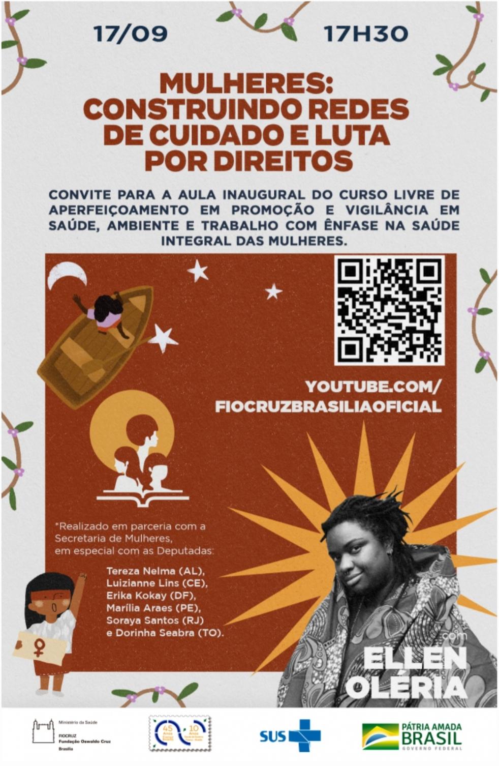Curso online sobre a saúde integral das mulheres realizará aula inaugural - inscrições seguem abertas até 17/9