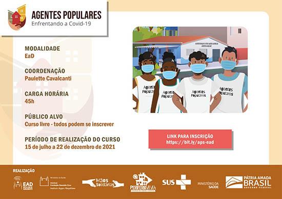 Covid-19: Fiocruz Pernambuco lança formação livre e online para Agentes Populares