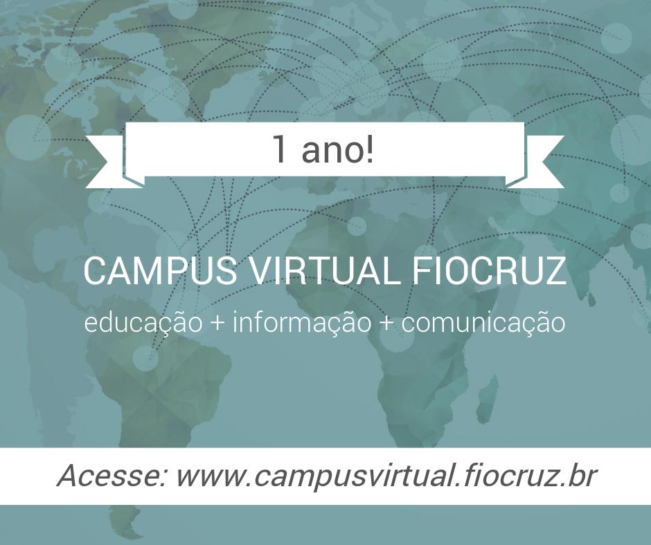 Campus Virtual Fiocruz completa um ano e desenvolve novas soluções