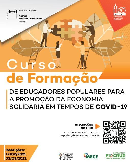 Inscrições abertas para curso de educadores populares para a promoção da economia solidária