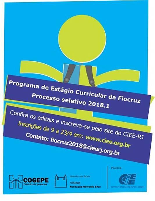 Fiocruz oferece 201 vagas para estágio
