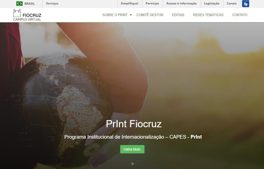 Pelo mundo: Fiocruz lança site do seu Programa Institucional de Internacionalização (PrInt)