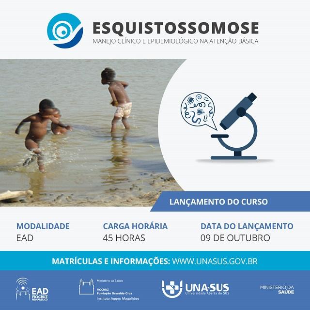 Esquistossomose é tema de novo curso da Fiocruz Pernambuco e UNA-SUS