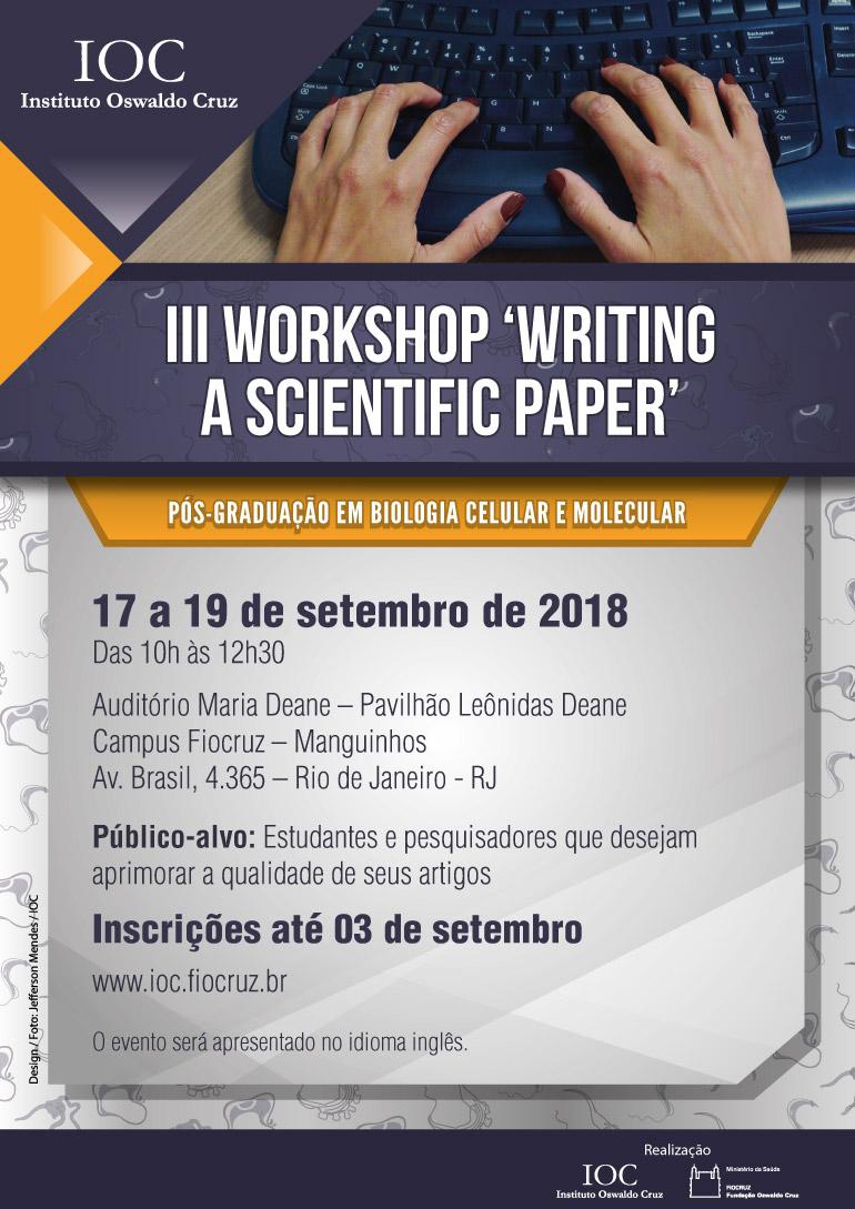 Instituto Oswaldo Cruz promove Workshop voltado para a escrita científica