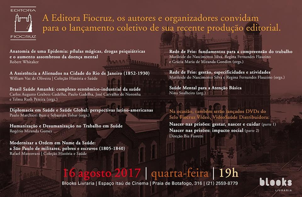Lançamento Coletivo da Editora Fiocruz 2017 | Campus Virtual Fiocruz