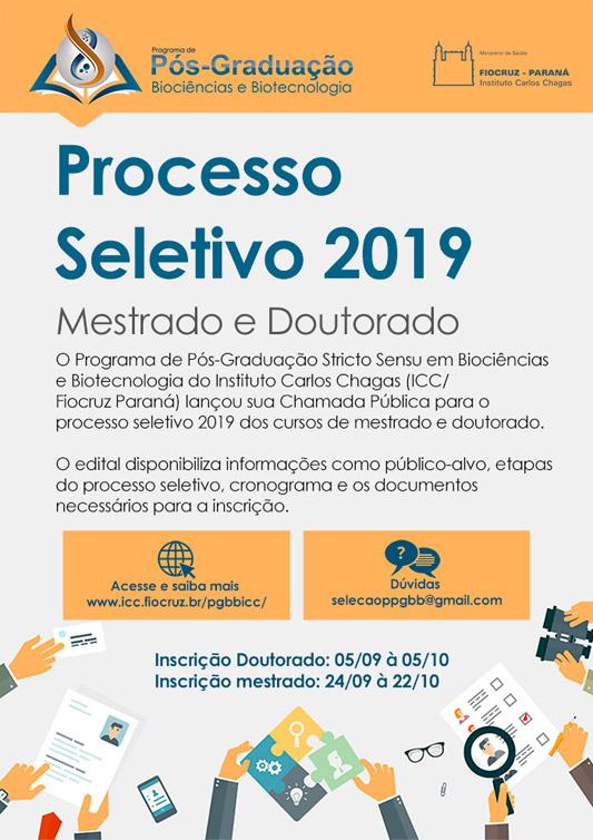 Fiocruz Paraná anuncia processo seletivo para mestrado e doutorado em biociências e biotecnologia