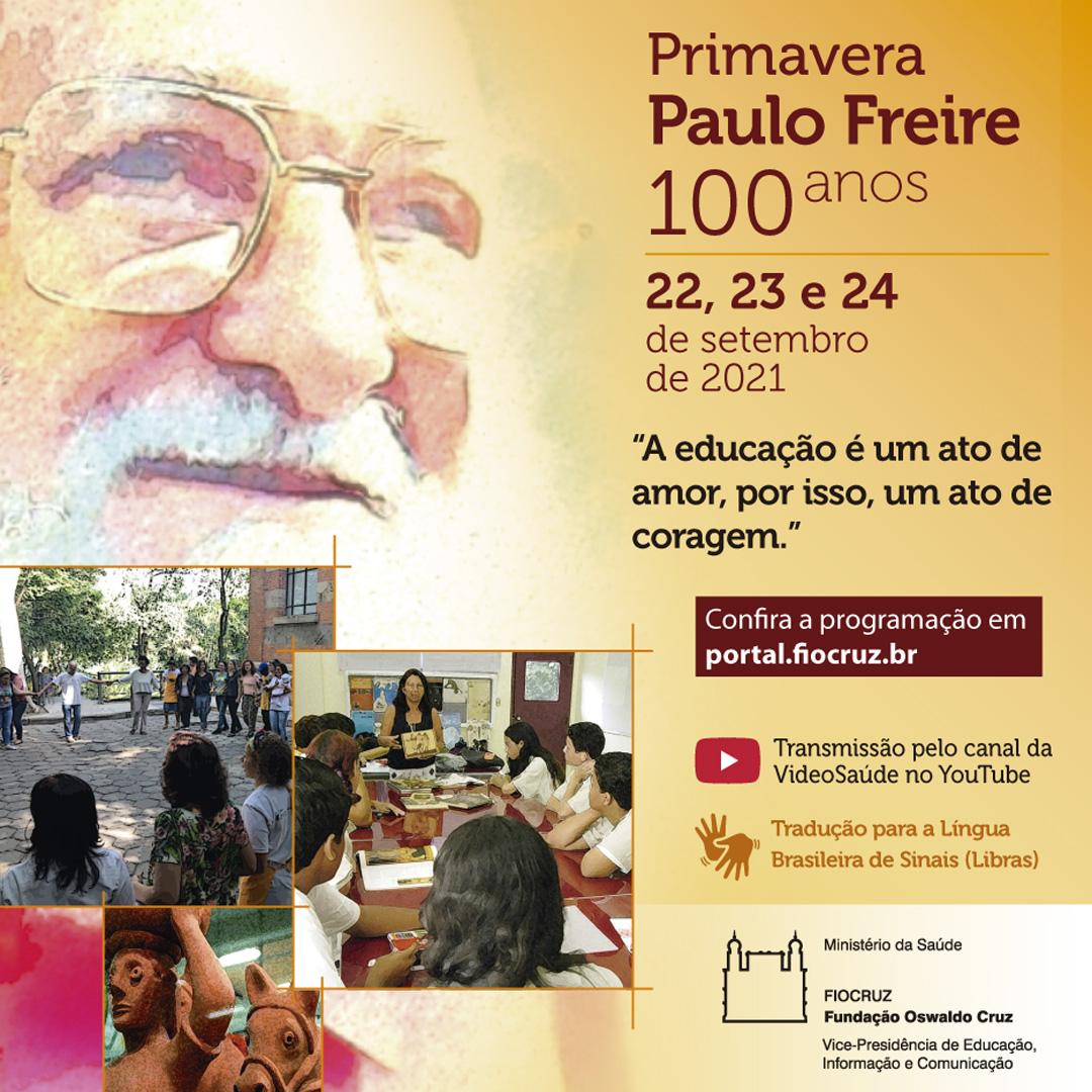 Encontro virtual celebrará centenário de Paulo Freire - Inscrição estão abertas