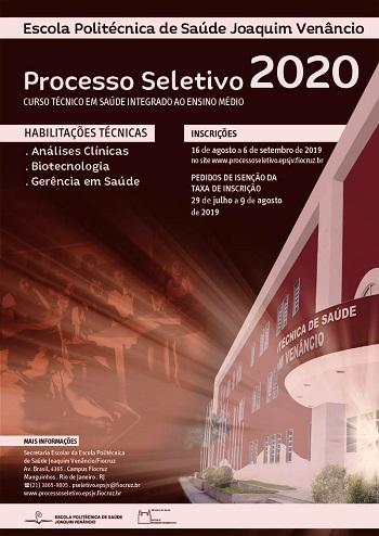 Escola Politécnica da Fiocruz oferece 96 vagas para análises clínicas, biotecnologia e gerência de saúde