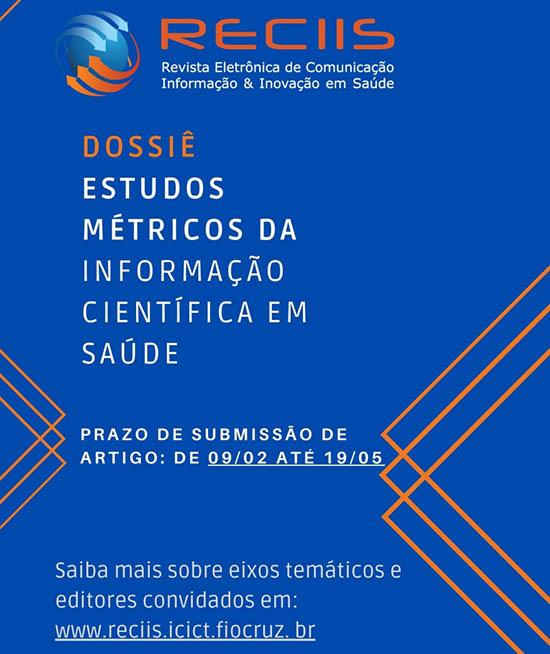 Revista eletrônica recebe artigos para edição sobre informação científica em saúde